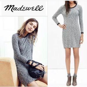 Madewell Rib Knit Heather Sweater Tee Dress Sz. L